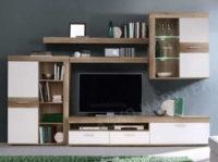 Zlevněná obývací stěna Zumba divoký dub/bílá