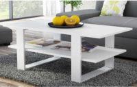 Levný bílý konferenční stolek 120 x 60 cm