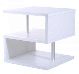 Moderní bílý konferenční stolek s otevřenou konstrukcí