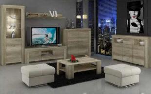 Obývací stěna Sky s TV stolkem a dvěma komodami