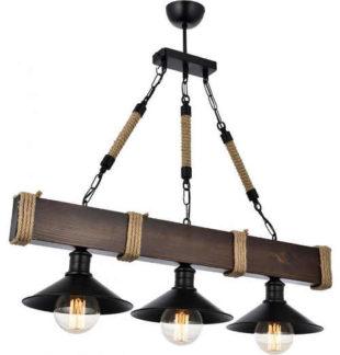 Stropní závěsná lampa dřevěný lustr Beacon