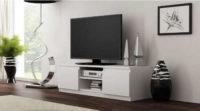 Moderní TV stolek v bílém provedení