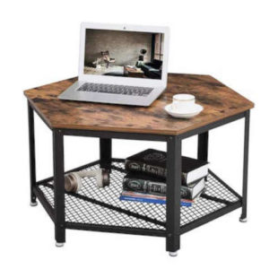 Šestihranný konferenční stolek v rustikálním stylu