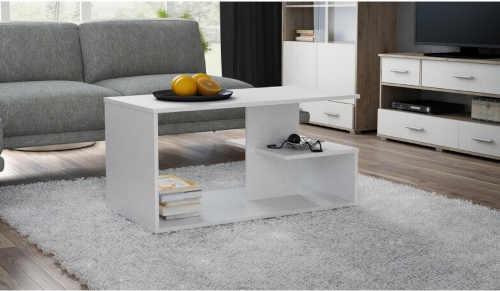 bílý konferenční stolek do obýváku