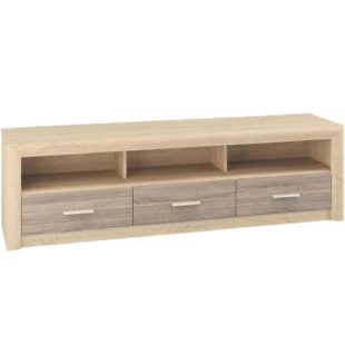 Moderní dřevěný světlý TV stolek
