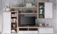 Obývací stěna v provedení bílá/dub sonoma