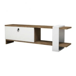 Bílý TV stolek v moderním designu