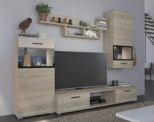 Levná obývací stěna dub sonoma ONTARIO