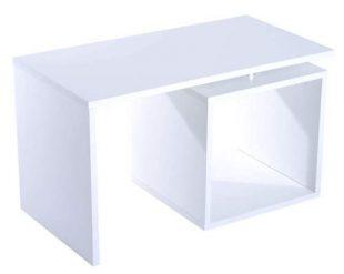 Elegantní bílý konferenční stolek Aaron