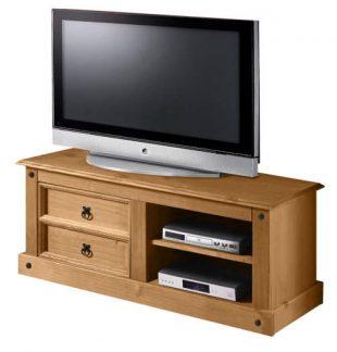 Rustikální stolek pod televizi masivní borovice