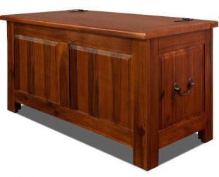 Velká stylová truhla z akátového dřeva