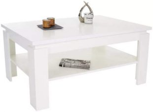 Jednoduchý bílý konferenční stolek Nizza 2