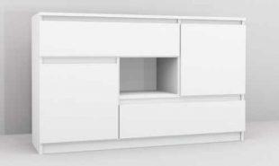 Designová komoda v bílém provedení