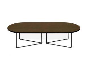 Konferenční stolek s ořechovou dýhou